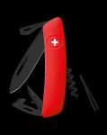 Scyzoryk SWIZA D03 ALLBLACK Czerwony