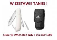 Scyzoryk SWIZA D02 Biały KNI.0020.1020 + Etui XSP.1009