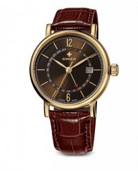 Zegarek SWIZA ALZA GMT PVD WAT.0142.1401