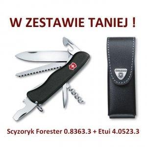 Victorinox Scyzoryk Forester 0.8363.3 w zestawie z etui