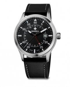 zegarek SWIZA Siriuz GMT SST black-black WAT.0352.1001