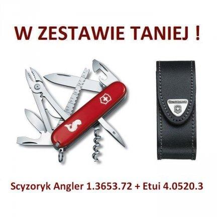 Victorinox Scyzoryk Angler 1.3653.72 + Etui 4.0520.3