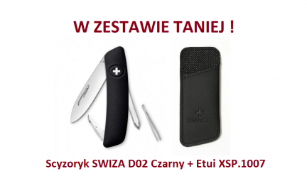 Scyzoryk SWIZA D02 Czarny KNI.0020.1010 + Etui XSP.1007