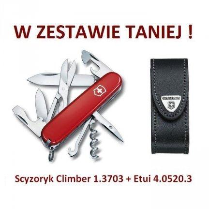 Victorinox Climber Scyzoryk 1.3703 + Etui 4.0520.3