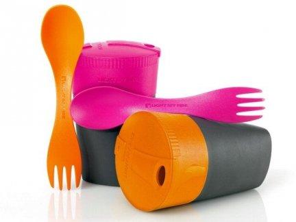 Zestaw Cup'n'Spork Orange & Fuchsia 50396510-01 LIGHT MY FIRE