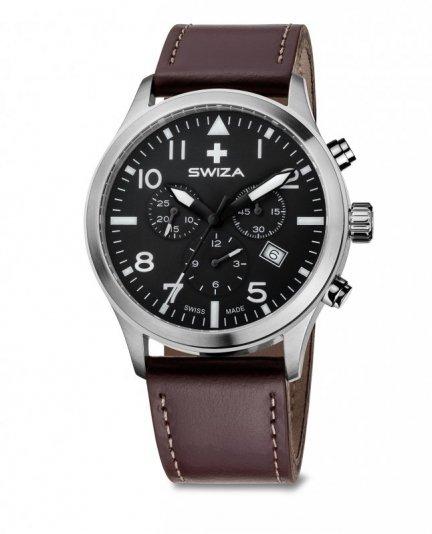 zegarek SIRIUZ Chrono, SST, black, brown WAT.0353.1002