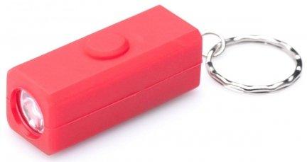 Brelok latarka gumowana 2LED Mactronic LED2R-RED