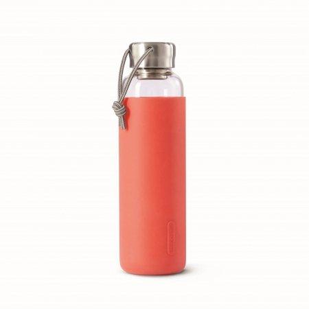 BB - Butelka szklana na wodę 600ml, koralowa
