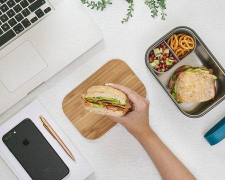 BB - Lunch box stalowy L, oliwkowy