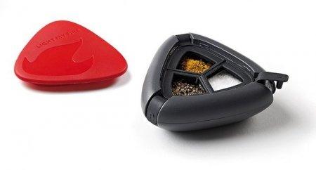 Pojemnik na przyprawy Salt&Pepper Plus Black 40272010 LMF
