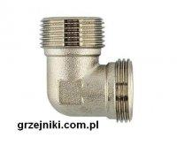 Kolano z gwintem zewnętrznym, niklowane 3/4GZx3/4GZ