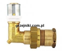 Złącze kątowe zaciskowo-śrubunkowe, 16*2-1/2GW