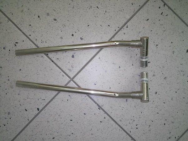 Przyłącze grzejnikowe, niklowane, 300 mm / 1100 mm (np. do listew maskujących)