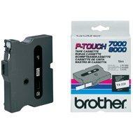 Taśma Brother laminowana 12mm x 8m czarny nadruk / białe tło
