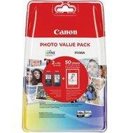 Tusz Canon value packPG-540XL+Cl-541XL+papier photo  (PG-540XL+CL-541XL bk/col)