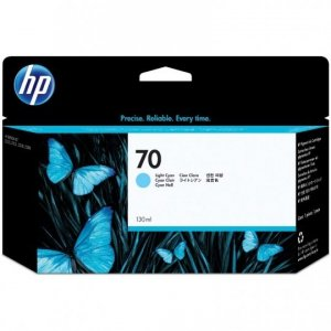 Tusz HP 70 Vivera do Designjet Z2100/3100/3200/5200 | 130 ml | ligth cyan