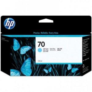 Tusz HP 70 Vivera do Designjet Z2100/3100/3200/5200 | 130 ml | ligth cyan