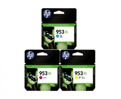 Zestaw tuszy HP OVP 953XL C/M/Y oraz 75 arkuszy A4
