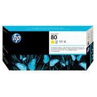 Głowica + gniazdo czyszczące HP 80 do Designjet 1050/1055 | yellow