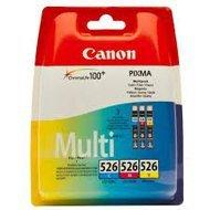 Zestaw trzech  tuszy Canon  CLI526  do  MG-5150/5250/6150/8150 | 3 x 9 ml | CMY