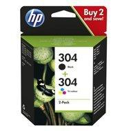 Zestaw tuszy HP 304 2-pack | czarny, trójnokolorowy |
