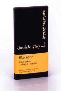 Czekolada mleczna z wanilią [60% kakao z Ekwadoru] 50g