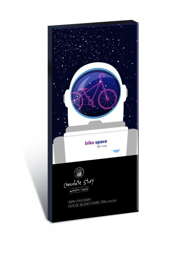 Czekolada ciemna Bike Space House Blend Dark 70% kakao z plakatem BALSI 50g