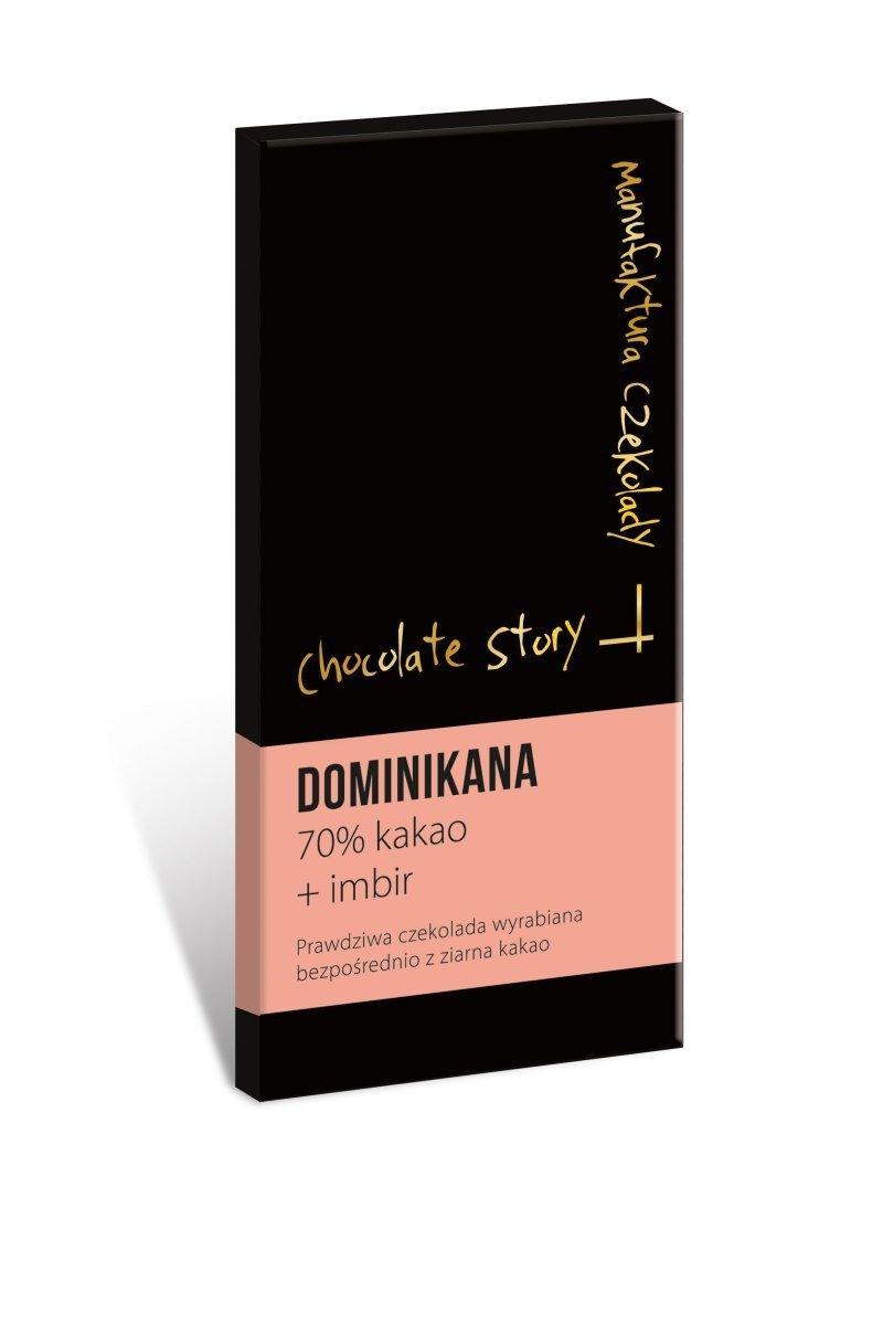 Czekolada deserowa [70% kakao z Dominikany] + Imbir 55g
