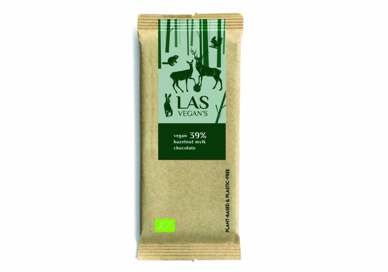 Czekolada wegańska z orzechami [vegan 39% hazelnut  mylk chocolate]