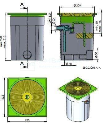 Regulator poziomu wody w basenie ASTRALPOOL 15862
