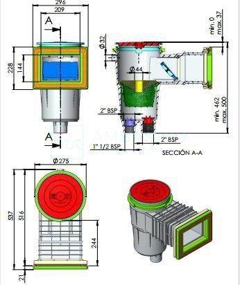 Skimmer ASTRALPOOL 17,5l - 11310