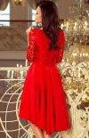 Sukienka z dłuższym tyłem Numoco 210-6 tył