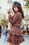Sukienka w panterkę Romi 285-1 tył