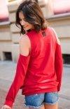 Numinou NU101 bluzka czerwona tył