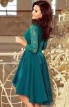 Sukienka z dłuższym tyłem zielona Numoco Nicolle 210-8_1