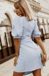 Bicotone sukienka wizytowa z broszką  2222-05 tył