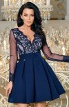 Bicotone 2166-11 sukienka rozkloszowana granatowa