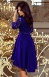 Sukienka chabrowa z dłuższym tyłem Numoco 210-4 tył