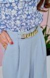 Szerokie spodnie plazzo błękitne 0011-1