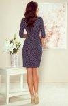 Ołówkowa sukienka w kropki 255-1 Iris tył