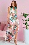 Szyfonowa długa sukienka letnia kolorowa 0209 U67