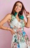 Szyfonowa długa sukienka letnia kolorowa 0209 U67-1