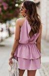 Top i spódniczka Costa  różowa tył