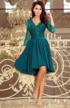 Sukienka z dłuższym tyłem zielona Numoco Nicolle 210-82