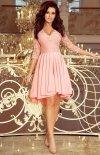 Pastelowa sukienka wieczorowa z koronką Numoco 210-7-1