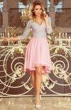 Sukienka z dłuższym tyłem Numoco 210-5 tył1