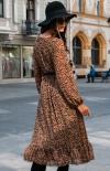 Sukienka midi w kolorową panterkę 0241/D42 tył