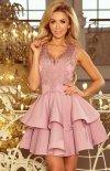 Rozkloszowana sukienka z koronką 200-10 Charlotte Numoco