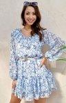 Szyfonowa sukienka w kwiaty 0324/U31