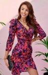 Ołówkowa sukienka w kwiaty 0329/S97